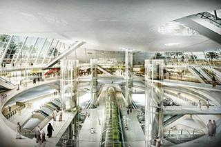 La stazione Olaya della metropolitana di Riyadh
