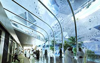 La stazione Qasr al Hokm della metropolitana di Riyadh