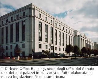 Il Dirksen Office Building, sede degli uffici del Senato, uno dei due palazzi in cui verrà di fatto elaborata la nuova legislazione fiscale americana