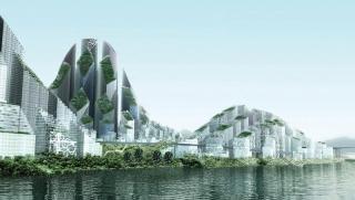 Un concept per il business district di Chongqing, la città di Bo Xilai.