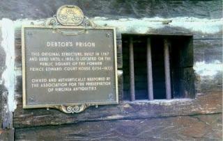 Una prigione per debitori in Virginia (dal 1787 al 1824), oggi monumento.