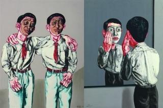 Zeng Fanzhi. Mask Series. 2002
