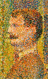 Pittura puntinista. Georges Seurat. La parade