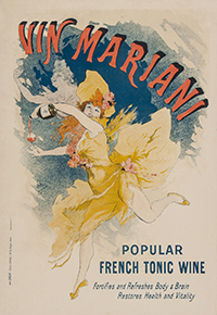 Manifesto pubblicitario del Vin Mariani
